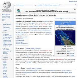 Barriera corallina della Nuova Caledonia