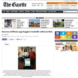 Success of iPhone app boggles Coralville software firm