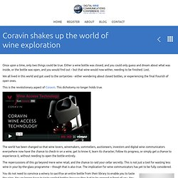 Coravin shakes up the world of wine exploration « 2014 DWCC