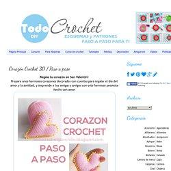 Corazón Crochet 3D / Paso a paso