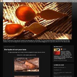 Etui kydex et cuir pour Izula