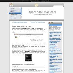Forcer la corbeille à se vider – Apprendre Mac - Confirmé