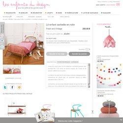 Lit enfant corbeille en rotin - Fresh and Vintage - Lit enfant design pour chambre d'enfant - Les Enfants du Design