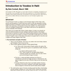 Bob Corbett, Introduction to Voodoo