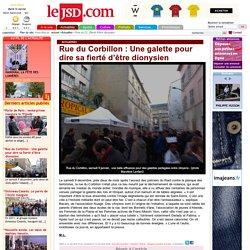 Rue du Corbillon : Une galette pour dire sa fierté d'être dionysien