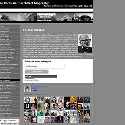 Le Corbusier : architect biography