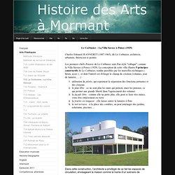 T-D Le Corbusier, La Villa Savoye - Histoire des arts au collège de Mormant