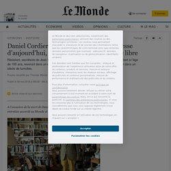 Daniel Cordier :de Jean Moulin à la jeunesse d'aujourd'hui, le témoignage d'un homme libre