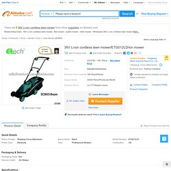 36v Li-ion Cordless Lawn Mower/etg012ld/ion Mower - Buy 36v Li-ion Cordless Lawn Mower,Cordless Lawn Mower,Electric Lawn Mower Product on Alibaba