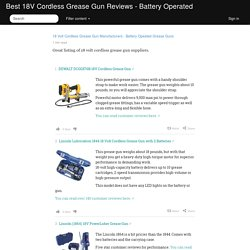 18 Volt Cordless Grease Gun Manufacturers - Battery Opeated Grease Guns