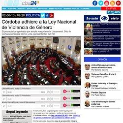 Córdoba adhiere a la Ley Nacional de Violencia de Género