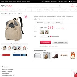 Women Corduroy Cute Animals Backpack Pity Dog Pattern Shoulder Bag Online - NewChic