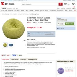 Gold Medal Medium Sueded Corduroy Teen Bean Bag - Overstock™ Shopping - Big Discounts on Gold Medal Bean & Lounge Bags