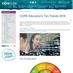 CORE Education's Ten Trends 2014