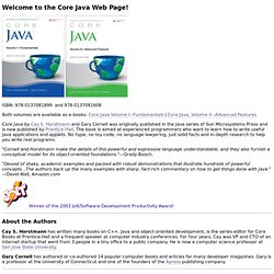 Core Java Web Page