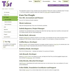 Tor Project (Core People)