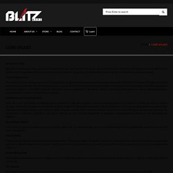 Core Values and Our Main Priority at Blitz Barz