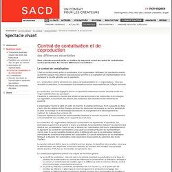 Contrat de coréalisation et de coproduction