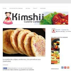 Crêpes coréennes à la cannelle et aux cacahuètes