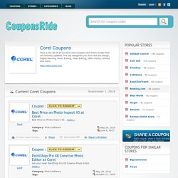 Corel Coupon Codes 35%