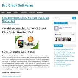 Coreldraw Graphic Suite X4 Crack Plus Serial Number Full