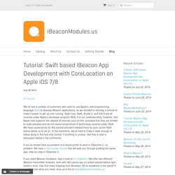 Tutorial: Swift based iBeacon App Development with CoreLocation on App – iBeaconModules.us