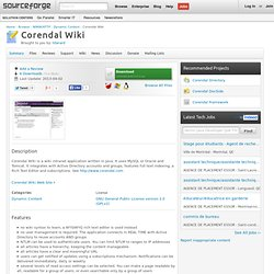 Corendal Wiki | Download Corendal Wiki software for free at SourceForge