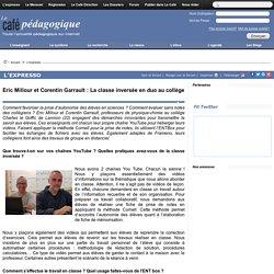 Eric Millour et Corentin Garrault : La classe inversée en duo au collège