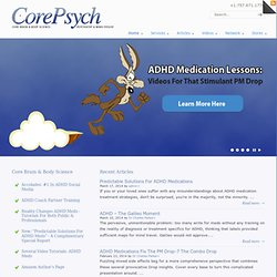 CorePsych Blog | Dr Charles Parker - Brain and Body Neuroscience Measurements Improve Psychiatric Consultation