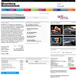 CoreRatings Ltd.: Private Company Information - BusinessWeek