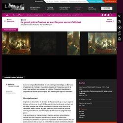 Fragonard: Le grand prêtre Corésus se sacrifie pour sauver Callirhoé