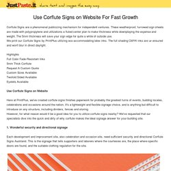 Use Corflute Signs on Website For Fast Growth