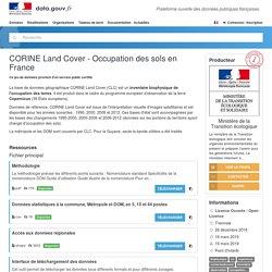 CORINE Land Cover - Occupation des sols en France