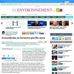 Corinne Lepage: Fessenheim ne fermera pas fin 2016