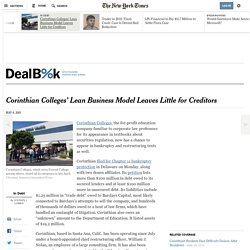 Corinthian Colleges' Lean Business Model Leaves Little for Creditors