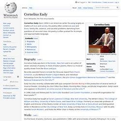 Cornelius Eady