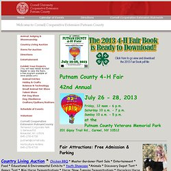 Cooperative Extension of Putnam County/4Hfair
