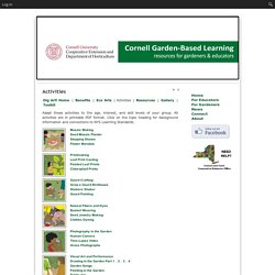 Garden-Based Learning » Activities
