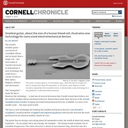 Science News: Nanoguitar