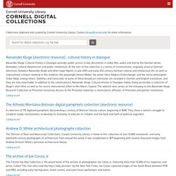 Cornell University Library Catalog