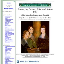Emily, Anne, and Charlotte Bronte - Poems by Currer, Ellis, and Acton Bell