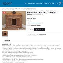 Corner Cat Litter Box Enclosure