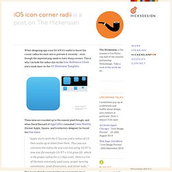 iOS icon corner radii