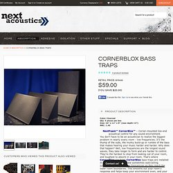 CornerBlox Bass Traps - Next Acoustics