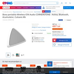 Boxa portabila Wireless ION Audio CORNERSTONE - Activa, Bluetooth, Acumulator, Culoare Alb