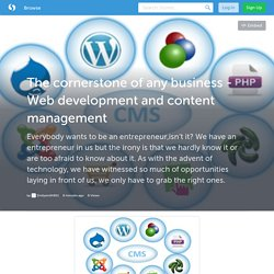 The cornerstone of any business - Web development and content management (with image) · Emilysmith901