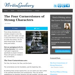 The Four Cornerstones of Strong Characters - Writingeekery