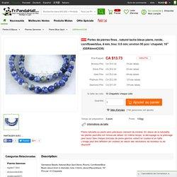 """En gros Perles de pierres fines , naturel tache bleue pierre, ronde, cornflowerblue, 4 mm, trou: 0.8 mm; environ 95 pcs / chapelet, 16"""" - Fr.Pandahall.com"""