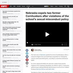 Nebraska expels two former Cornhuskers after violations of the school's sexual misconduct policy - Latest Covid 19 Corona Virus News, Corona Updates and Deals