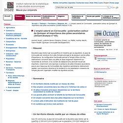 Territoire - L'emploi salarié en Cornouaille : polarisation autour de Quimper et importance des pôles secondaires (Octant Analyse n° 65)